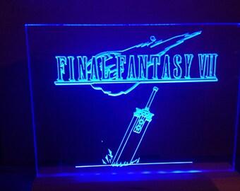 final fantasy  light up sign. illuminated gaming