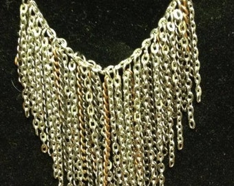dangle chain heavy metal necklace edgy