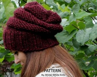 Cable Hat Knit Pattern : Pattern knit scarf PDF Instant Download by WinterWhiteKnits