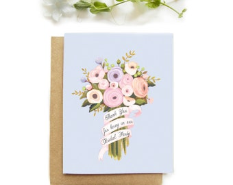 Bridal party thank you card - thank you for being in our bridal party - wedding party card - thank you gift wedding