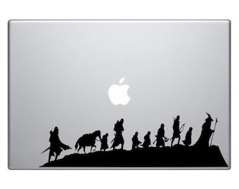 LOTR The 9 Walking Vinyl Sticker Laptop Macbook Mac Air Apple Lord Of The Rings