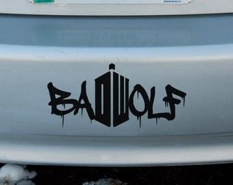 Bad Wolf Doctor Who Vinyl Sticker Car Window Door Bumper Decal DR Badwolf
