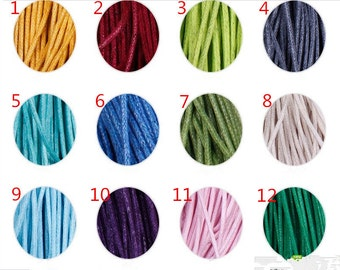 1.5mm 26 Colors Waxed Cotton Cord/Rope/String,Necklace and Bracelet Cord,Beading String Cord,Jewelry Making DIY Cord,