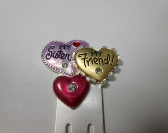 Sister Friend giant paperclip bookmark ~ by Ajmc