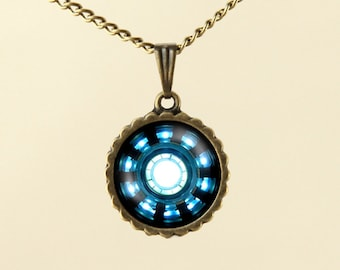 popular items for arc reactor necklace on etsy