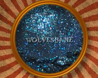 Wolvesbane Dark Blue Mineral Eyeshadow-Handmade in the USA