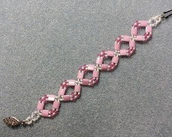 Pink Tila Diamonds Bracelet