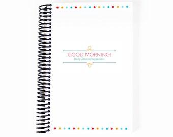 Simple Daily Planner - Blank Planner - Morning Planner - Christian Planner - Spiral Bound Planner