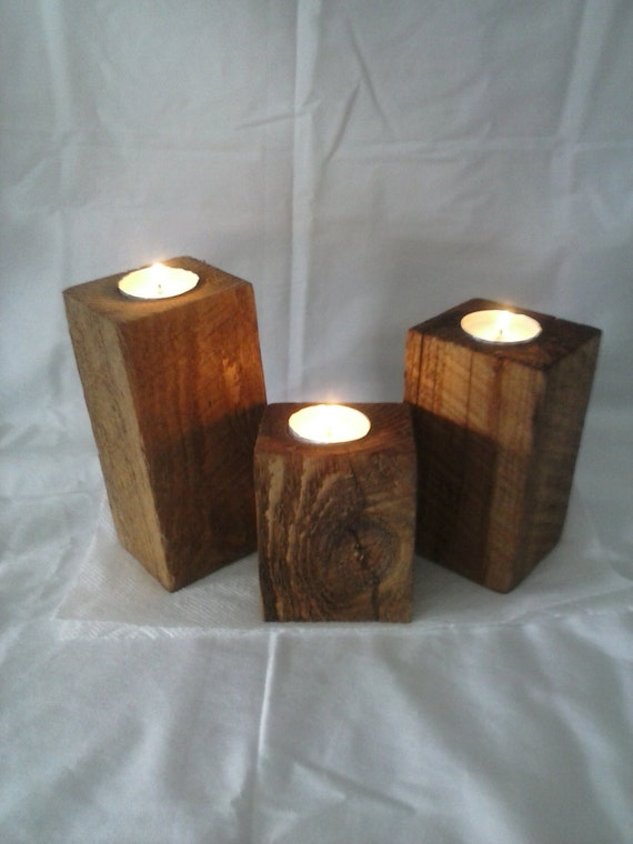 Wood Candle Holders