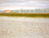 """Original Pastel drawing """"Landscape drawing from countryside II"""""""