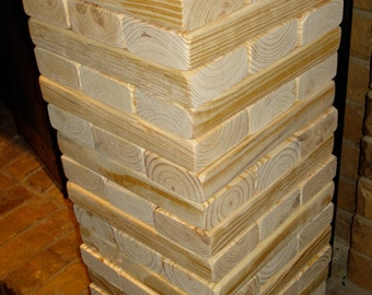 Giant Tumbling Tower Game Stacks up to 4-5FT tall original tumbling towers wood stacking game + Storage Case Stand