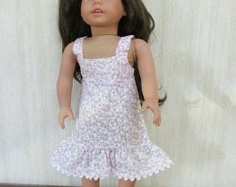 "18"" Girl Doll Clothes  Pink Sundress"