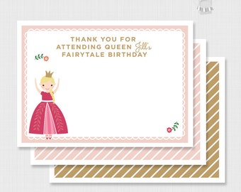 DIGITAL DOWNLOAD Personalized Princess Thank You Notes