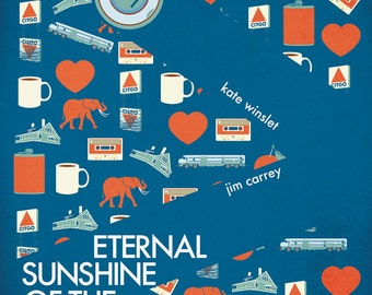 Eternal Sunshine of the Spotless Mind Poster, 12x18 inches