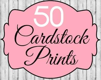 50 Cardstock Prints