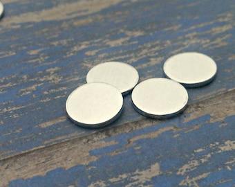 Aluminum 5/8 inch Round Stamping Blanks - 14G Aluminum