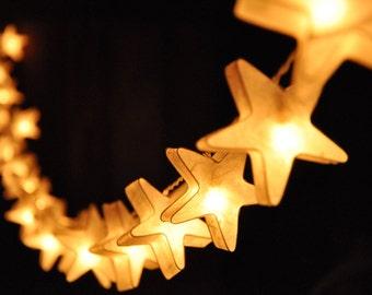 Skyboats: Hanging Lantern String Lights. Tealight Candle Lit