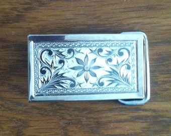 Flower square buckle