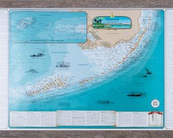 Framed Shipwrecks of the Florida Keys Nautical Art Print