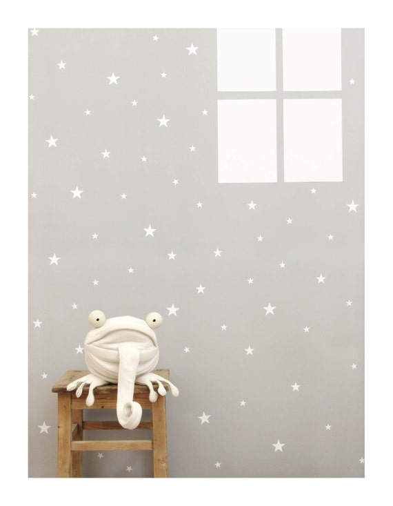 White star wall decals wall sticker nursery wall by tayostudio for Star wall decals