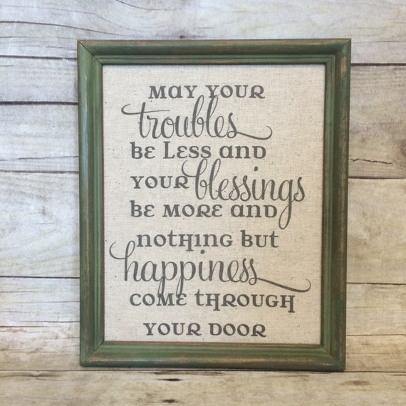 Irish Blessing Sign Burlap Or Natural Cotton By BellaGreyVintage
