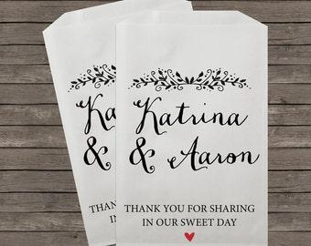 Wedding Favor Bags, Candy Buffet Bags, Candy Bar Bags, Favor Bags, Personalized Wedding Favor Bags, Treat Bags, Custom Favor Bags, Kraft 059