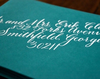 Envelope Calligraphy Addressing for Weddings, Showers, and Super Fun Parties - Wright-Patt Style