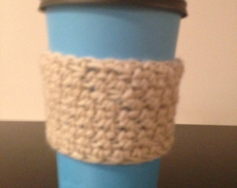 Cream coffee cozy