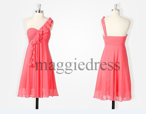 Watermelon Red Short Bridesmaid Dresses 2014 New Short Bridesmaid Dresses Party Dresses Prom Dress Evening Dresees Wedding Party Dress