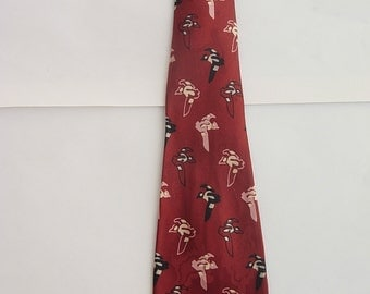 1940s Silk Flying Bird Tie