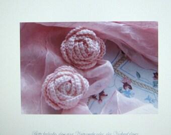 Crochet pattern Crochet Rose, the strawberry diamond crochet rose