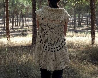 Crochet Circular Vest Pattern PDF Instant Download Mandala Vest Pattern Bohemian Waistcoat Lace Vest Pattern