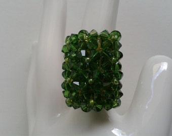 Ring-Swarovski Fern Green
