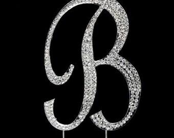 "Letter ""B"" Rhinestone Cake Topper"