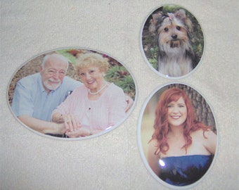 """2.35"""" x 3.15""""  Oval Porcelain-Ceramic-Photo-Picture for Memorial-Outdoors-Cemetery-Headstone"""