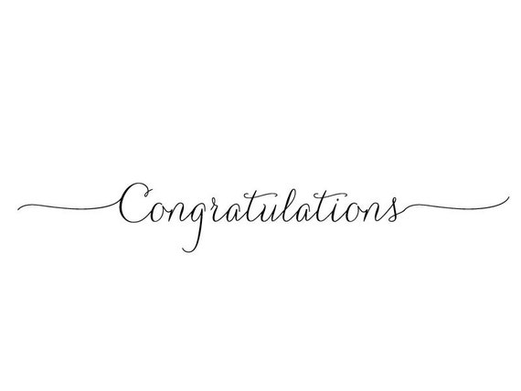 Items similar to congratulations text stamp calligraphy