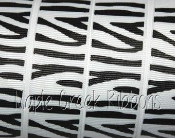 Zebra Stripe Grosgrain Ribbon 1 yard