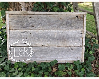 Custom wedding guest book/wall hanging