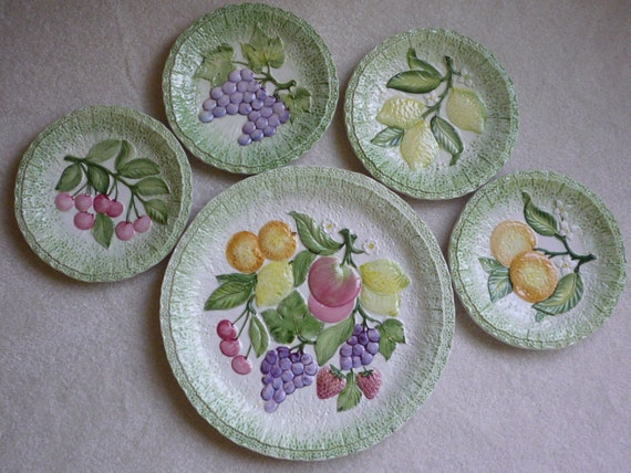 Items Similar To Kitchen Decor San Marco Decorative Fruit Plates Set Of 5 On Etsy