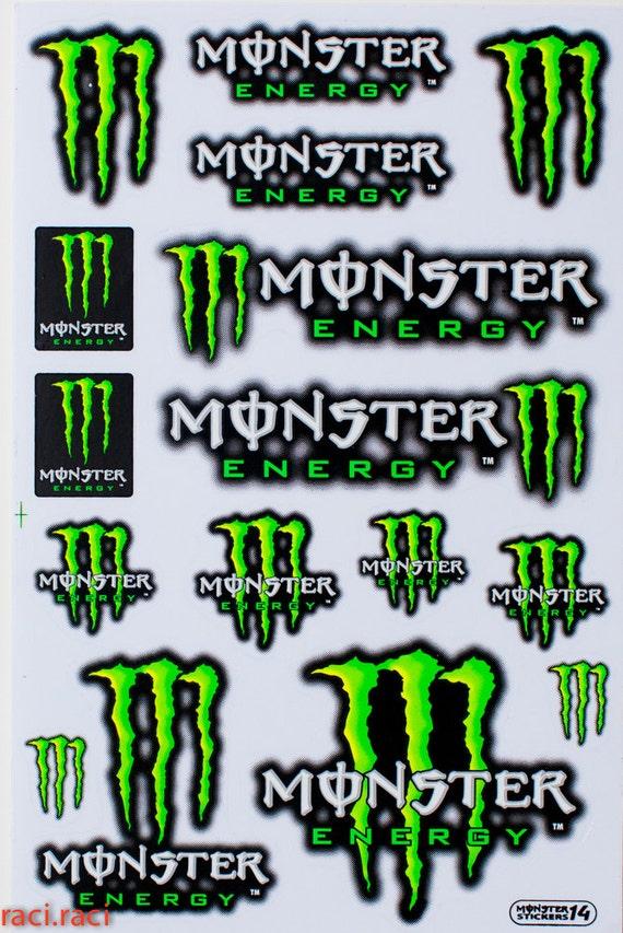 Griffes De Monstre Vert Sticker Autocollant Motocross Par