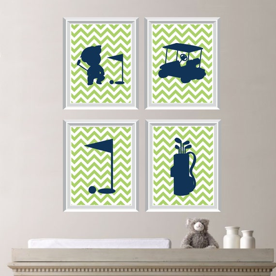 Baby Boy Nursery Art Golf Nursery Golf Bedroom Golf