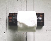 Toilet Paper Holder- Iron Pipe & Pallet Wood