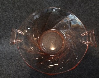 Heisey peach color glass bowl