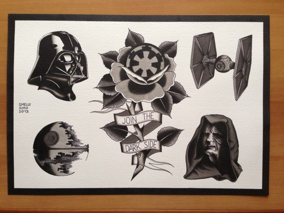 Star Wars tattoo flash sheet Join the Dark by ...