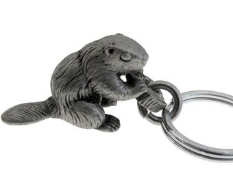 Beaver Keychain - Castor canadensis, American Beaver, Canadian Beaver Keychain
