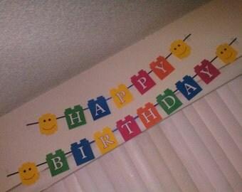 Lego Happy Birthday Sign