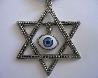 Huge child Star of David evil eye protection necklace from Israel GREAT GIFT