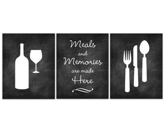 Fork And Spoon Wall Art home decor wall art chalkboard kitchen art fork and spoon