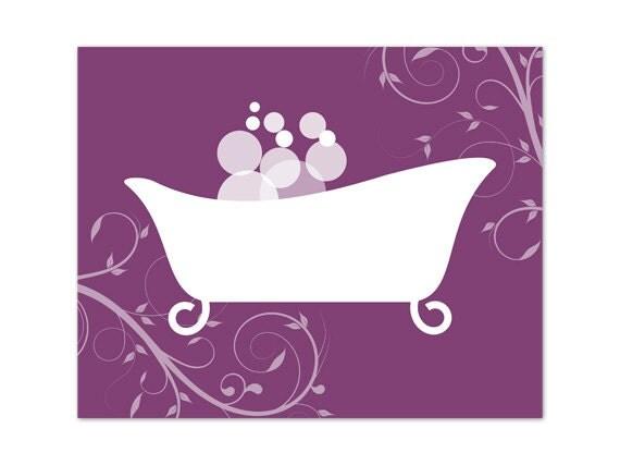 Purple Wall Decor For Bathroom : Items similar to bathroom wall art purple decor