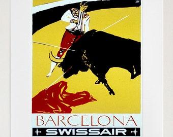 Barcelona Art Retro Poster Art Spain Travel Poster Wall Art Print (ZT513)